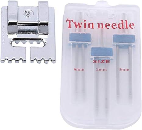 Guoshang - Agujas dobles para máquina de coser Brother Janome ...