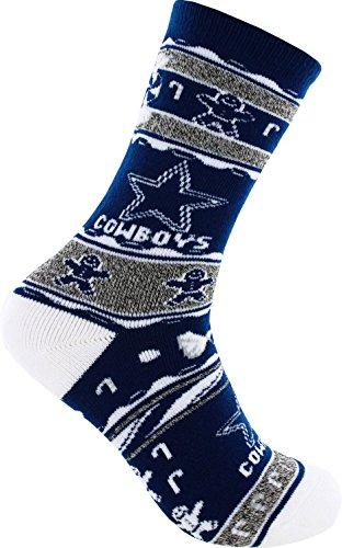Dallas Cowboys Holiday Knit Crew Socks (M) ()