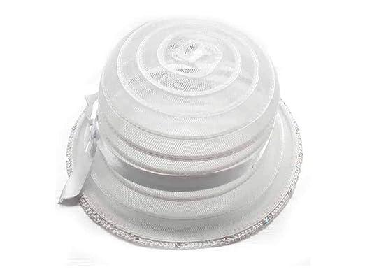 varietà larghe vari stili funzionario di vendita caldo Cappello Bianco Paillettes Bambina Bimba Elegante Cerimonia ...