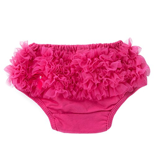 - Baby Infant Girl Bowknot Ruffle Bloomer Underwear Panty (6M, Hot Pink)