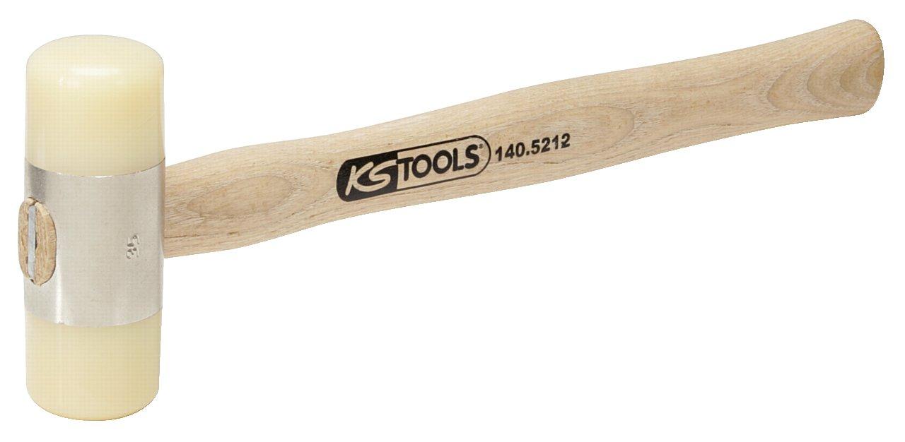 KS TOOLS 140.5212 Maillet à embout nylon 340g - tête Ø35mm - avec manche frêne galbé 4042146124840
