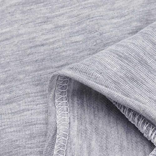 Corta ITISME Manica Donna DAMEN Impero Unita Grau Tinta TOPS Camicia 0wrBqx07