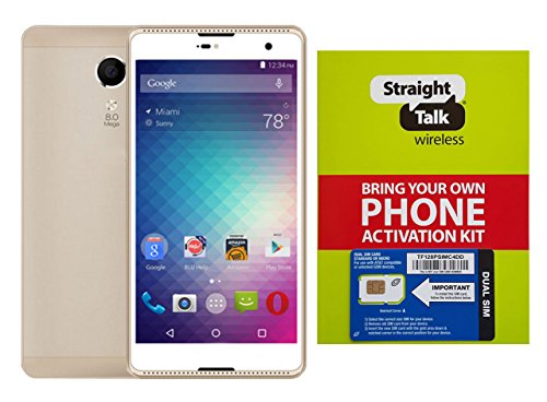 PA-E Straight Talk Unlocked Phone Grand Android 6.0 Compatible with NET10 5.5-Inch HD Display, WIFI, GPS, Dual Camera and SIM Card