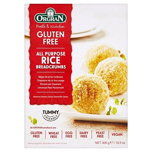 Orgran Gluten Free All Purpose Rice Crumbs 300g - Pack of 6