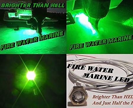 Firewatermarine Super Delux 10 WATT Garboard Brass Boat Plug Light 1000-1200 LUMENS