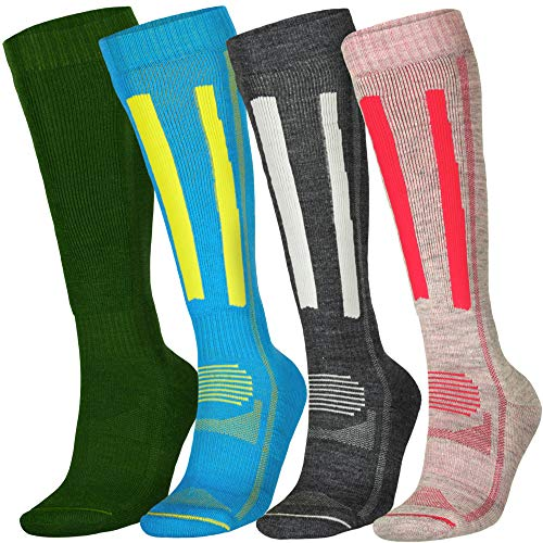 Alpine Performance Socks (US Women 8-10 // US Men 6.5-8.5, Dark Grey/Light Grey 1 Pair)