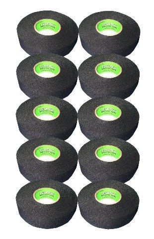 Renfrew 10 Roll Pack, Ice Hockey Stick Blade Handle Tape, BLACK, 24mm x 25yd ()