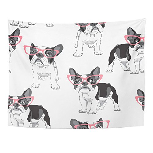 VaryHome Tapestry Black Frenchie with Cartoon French for sale  Delivered anywhere in USA