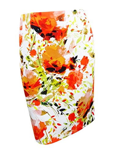 Kasper Women's Floral-Print Scuba Pencil Skirt (16, Velencia Multi)