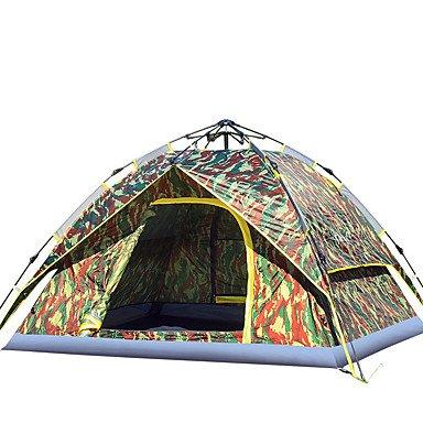 3-4 Personen Zelt Doppel Camping Zelt Outdoor Automatische Zelt Feuchtigkeit/Feuchtigkeit Durchlässigkeit Wasserdicht Winddicht Regen-Proof Für