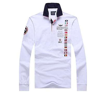 686127acf9dc46 Amazon   ポロシャツ長袖メンズ おしゃれゴルフウェア スポーツウェア稀少 秋冬   シャツ 通販