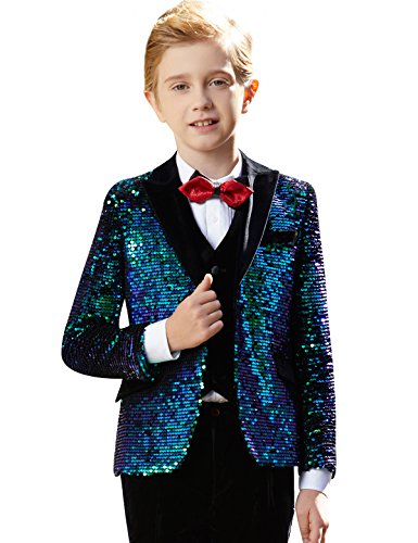 ELPA ELPA Boys Suits 5 Set Children's Dresses Slim Fit Formal Wedding Primary School Host Piano Performance Clothes by ELPA ELPA