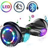 "TOMOLOO Hoverboard Bluetooth Speaker Colorful LED Lights Self-Balancing Scooter UL2272 Certified 6.5"" Wheel Adults Child"