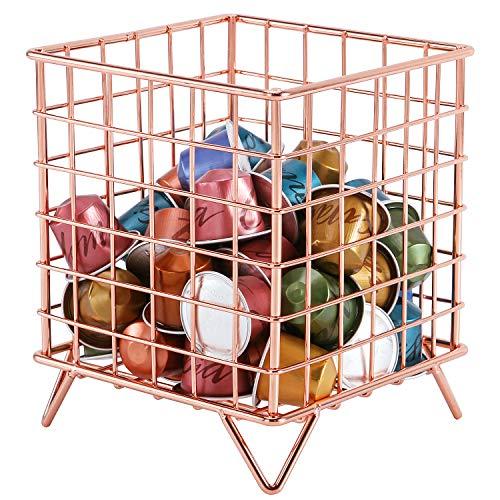 Simmer Stone Coffee Pod Holder, Wire Coffee Pod Storage Basket, Utility Pod Holder Organizer for Kitchen, Pantry, Office…