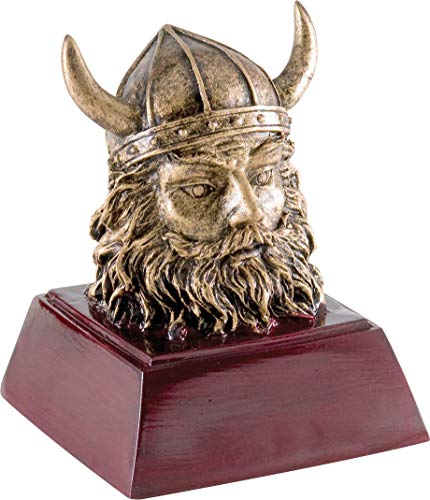 Trophy Crunch Viking Warrior Mascot School Gift & Award - Free Custom - Warrior Mascot