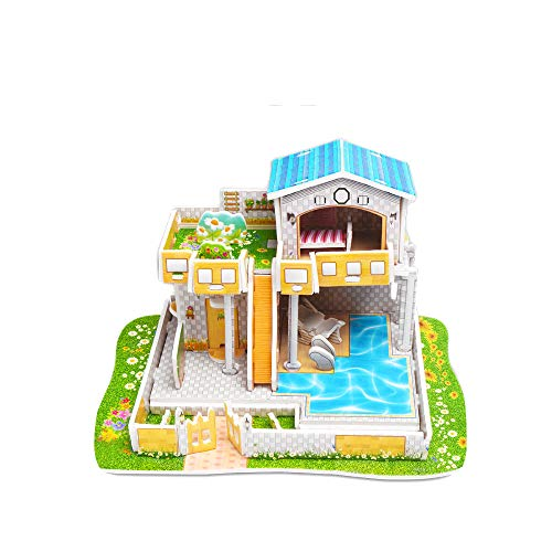 WFFO Paper Board Jigsaw Puzzle, Early Learning Construction Assemble Children Home Decoration (J) ()