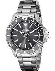 Invicta Mens 21377 Pro Diver Analog Display Quartz Silver-Tone Watch