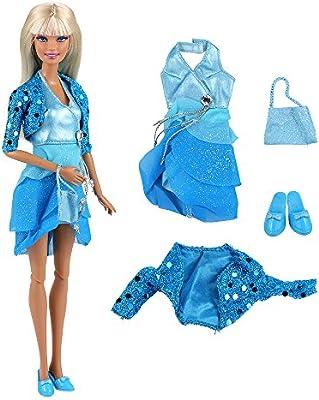 Amazon.es: Miunana 1 Moda Noche de Princesas Ropa lleva Vestido ...