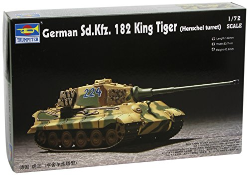 Trumpeter 1/72 German SdKfz 182 King Tiger Tank (Henschel Turret)