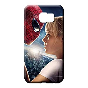 samsung galaxy s6 edge Hybrid Snap pattern cell phone carrying cases amazing spider man emma stone