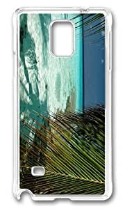 MOKSHOP Personalized Maldives Indian Ocean Hard Case Protective Shell Cell Phone Cover For Samsung Galaxy Note 4 - PC Transparent