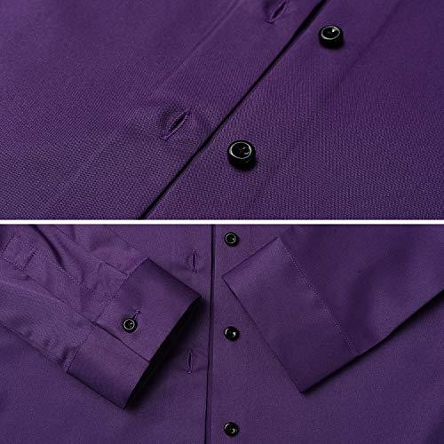9e1843787c FLY HAWK Womens Button Down Shirts Slim Fit Dress Shirts Basic Long Sleeve  Bamboo Fiber Formal