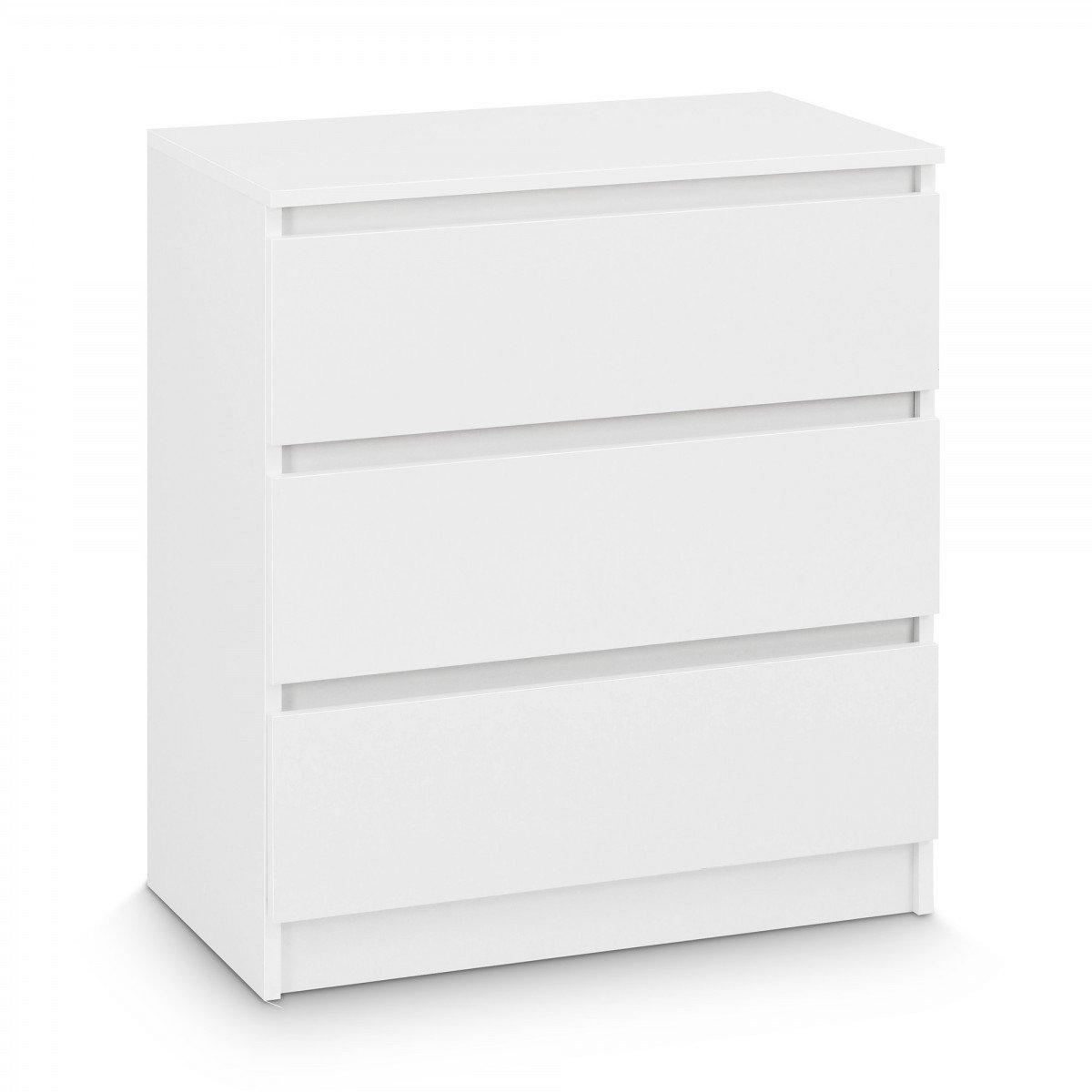 Galdem Kommode mit 3 Schubladen Sideboard Mehrzweckschrank Anrichte Diele Flur Esszimmer Wohnzimmer Schlafzimmer Weiß