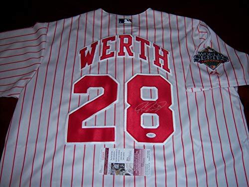 (Jayson Werth Phillies08 Ws Champs JSA Autographed Signed World Series Jersey - Certified Authentic)