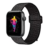 INTENY Sport Band for Apple Watch 38mm 40mm 42mm 44mm, Soft Lightweight Breathable Nylon Sport Loop Replacement Strap for iWatch Series 4, Series 3, Series 2, Series 1, Hermes, Nike+, Edition