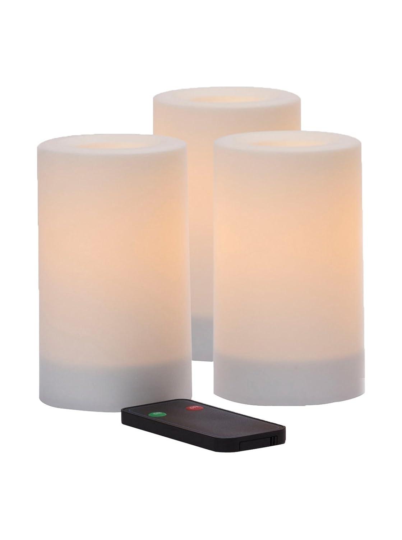 Inglow Flameless Candles 3er Set fernbedienbar flammenlose Kerzen, fernbedienbar Set 6c5ab4