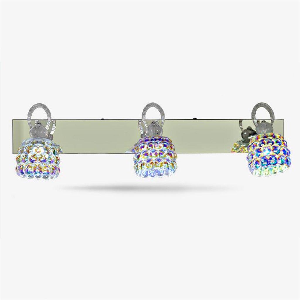 badezimmerlampe Spiegel-vorderes Licht, Badezimmer-Kabinett-Wand LightLED-Spiegel-Licht mit Schalter Make-up-Spiegel-vordere Beleuchtungs-Lampe Edelstahl-justierbarer Winkel Schminklicht