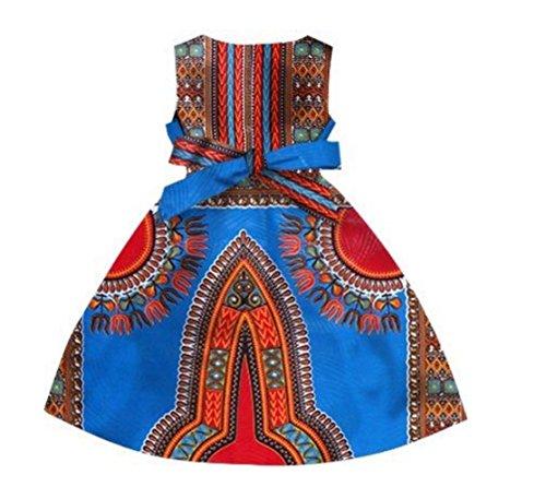 Filles Coolred Impression Africaine Élégante Dashiki Lâche Taille Plus Longue Robe Partie 12
