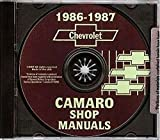 STEP-BY-STEP 1986 1987 CHEVROLET CAMARO 2 VOL. FACTORY REPAIR SHOP & SERVICE MANUAL INCLUDES: Standard Camaro, Coupe, Berlinetta, Z28, RS, Convertible, and IROC-Z 86 87