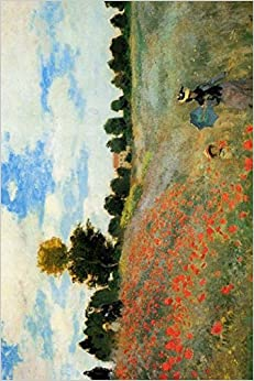 Claude Monet's 'The Poppy Field Near Argenteuil' Art of Life Journal (Lined)