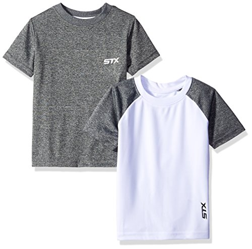 STX Toddler Boys Active T-Shirt and Packs, 2 Pack -White/Gray -TX63, 2T