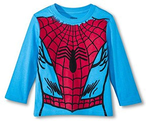 Marvel Comic Spiderman Little Boys' Toddler Long Sleeve Costume Tee Shirt Red