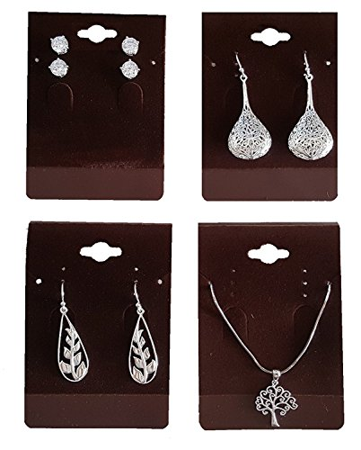 "Cordovan Shade 100 Earring/Pendant Jewelry Display Hanging Cards Showcase (2.38"" x 3.28"")"