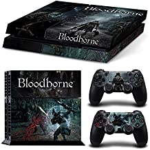 Sony PlayStation 4 Skin Decal Sticker Set - Bloodborne (1 Console Sticker + 2 Controller Stickers, Style 5)