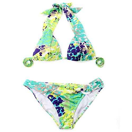 Colloyes Strand Damen Bikini Florale Bademode Triangle Tops ...