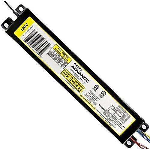 PHILIPS Advance REZ2TTS40SC35M 2 40 Watt FT40W 2G11 Lamp Dimmable Fluorescent Ballast 120 Volt Mark 10 Powerline