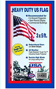 Tough-Tex the Strongest Embroidered Stars and Brass Grommets. 100/% Made in USA with Sewn Stripes Annin Flagmakers Model 2710 American Flag 3x5 ft Longest Lasting Flag