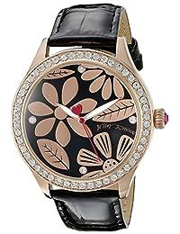 Betsey Johnson Women's BJ00517-10 Analog Display Quartz Black Watch