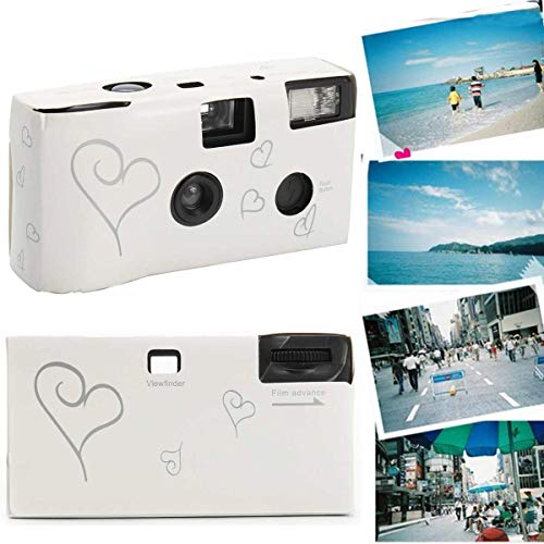 SMALL-CHIPINC – Film Camera 36 Pos White Po Power Flash HD Single Use One Time Disposable Film Camera Party Birthday Valentine's Day Gift
