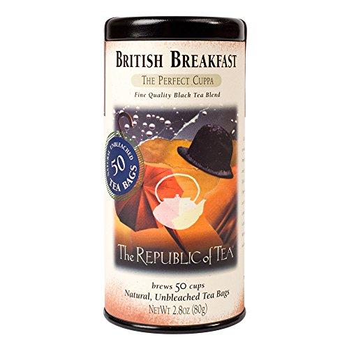 The Republic of Tea, British Breakfast Tea, 50-Count (Best British Tea Brands)