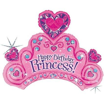 Amazon.com: 34 Inches Happy Birthday Princess Mylar: Office Products