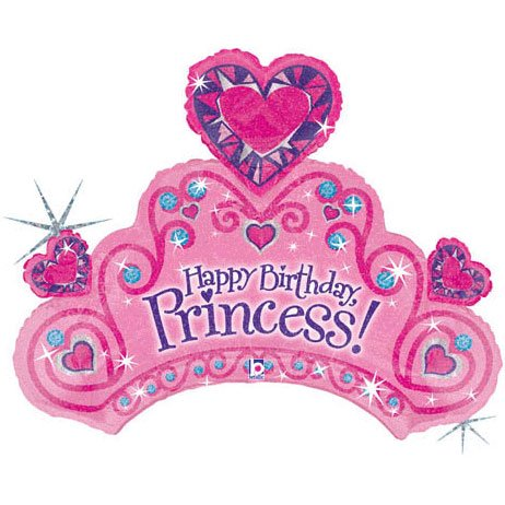 (34 Inches Happy Birthday Princess)