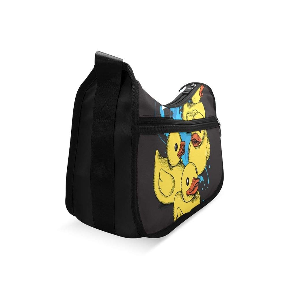 A Group Of Yellow Rubber Ducks Messenger Bag Crossbody Bag Large Durable Shoulder School Or Business Bag Oxford Fabric For Mens Womens