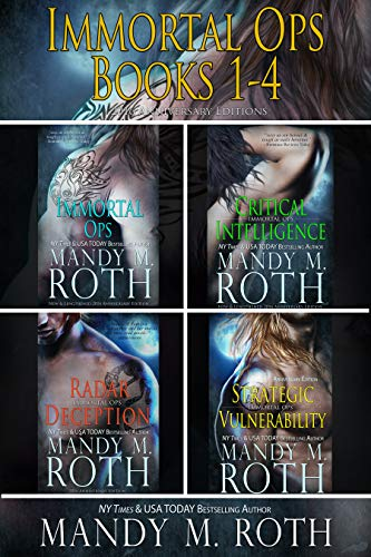Paranormal Shifter Military Special Ops RomanceBooks 1-4 in the Immortal Ops Series!Contains:Immortal OpsCritical IntelligenceRadar DeceptionStrategic VulnerabilityImmortal OpsImmortal Ops Team Captain Lukian Vlakhusha is having issues with his newes...
