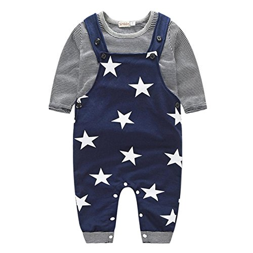 Baby Clothes Set, PPBUY Baby Boys Pants Sets Stripe T-shirt Top + Bib Pants Outfits (12M, - Formal Sunglasses For Wear