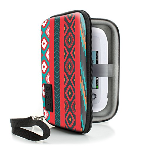 WiFi Hotspot Portable Mobile Carrying Case by USA Gear with Detachable Security Wrist Strap - Great for 4G Wi-Fi Mobile Hotspots from AT&T , Verizon , Sprint , Virgin Mobile , T-Mobile - Southwest